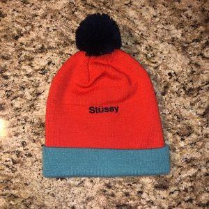 Orange and Blue Stussy winter hat
